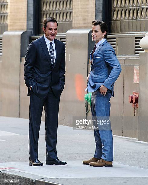 Matt Bomer and Tim Dekay as seen on May 31 2013 on the set of 'White Collar' in New York City