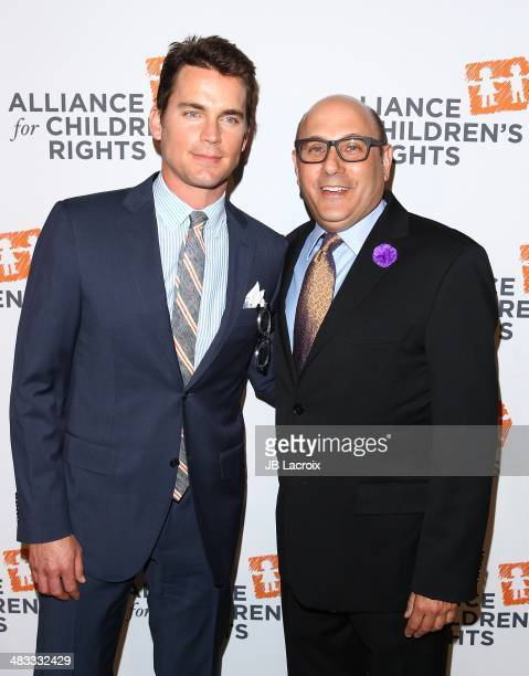 Matt Bomer and Willie Garson attend The Alliance For Children's Rights 22nd Annual Dinner held at the Beverly Hilton hotel on April 7 2014 in Beverly...