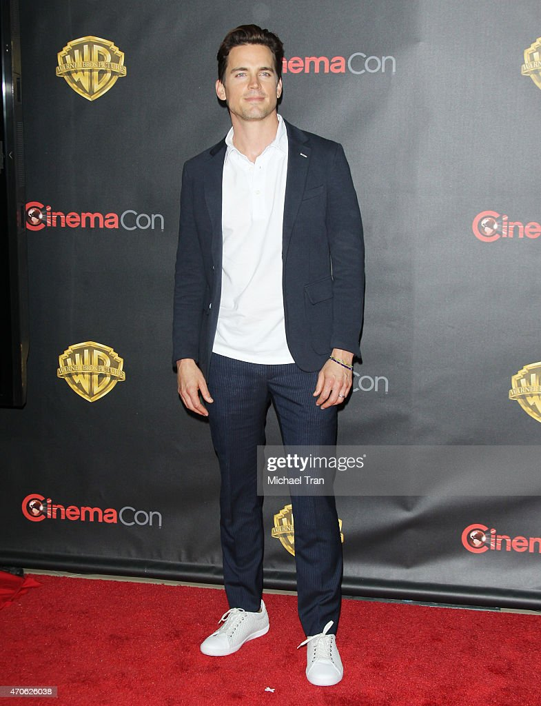 Matt Bomer arrives at 2015 CinemaCon - Warner Bros. Presents The Big Picture held at Caesars Palace Resorts and Casino on April 21, 2015 in Las Vegas, Nevada.