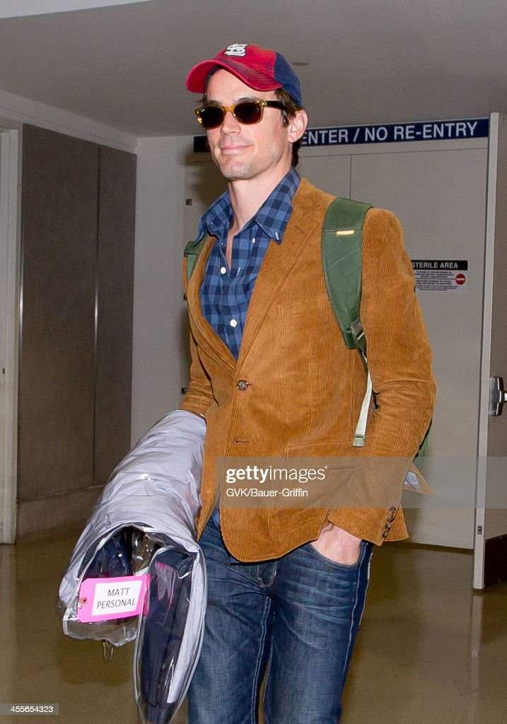 Matt Bomer arrives at LAX (Los Angeles International Airport) and grabs a cup of coffee. on September 21, 2013 in Los Angeles, California.
