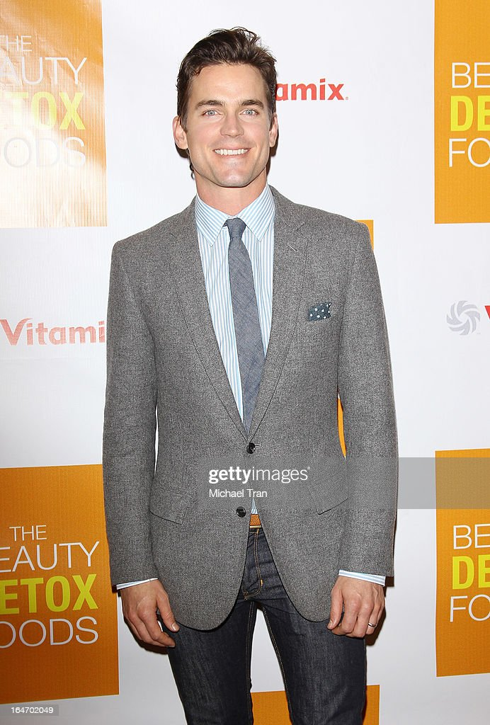 <a gi-track='captionPersonalityLinkClicked' href=/galleries/search?phrase=Matt+Bomer&family=editorial&specificpeople=2960058 ng-click='$event.stopPropagation()'>Matt Bomer</a> arrives at the celebrity nutritonist Kimberly Snyder hosts book launch party for 'The Beauty Detox Foods' held at Smashbox West Hollywood on March 26, 2013 in West Hollywood, California.