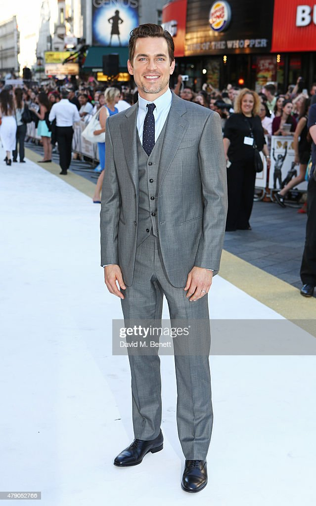 Matt Bomer attends the UK Premiere of 'Magic Mike XXL' at the Vue West End on June 30 2015 in London England