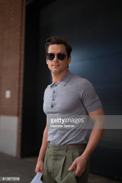 Matt Bomer is seen attending BOSS during Men's New York Fashion Week wearing Hugo Boss on July 11 2017 in New York City