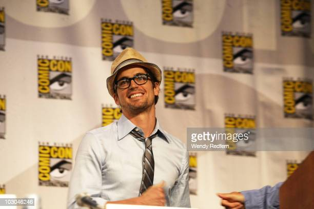 Matt Bomer speaks at the USA Network's White Collar panel at Comic Con on July 22 2010 in San Diego California