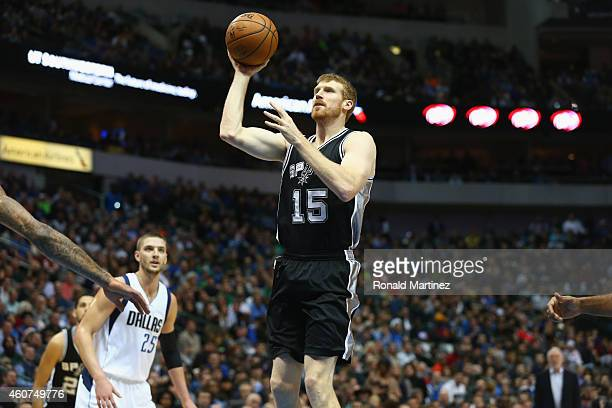 Matt Bonner of the San Antonio Spurs at American Airlines Center on December 20 2014 in Dallas Texas