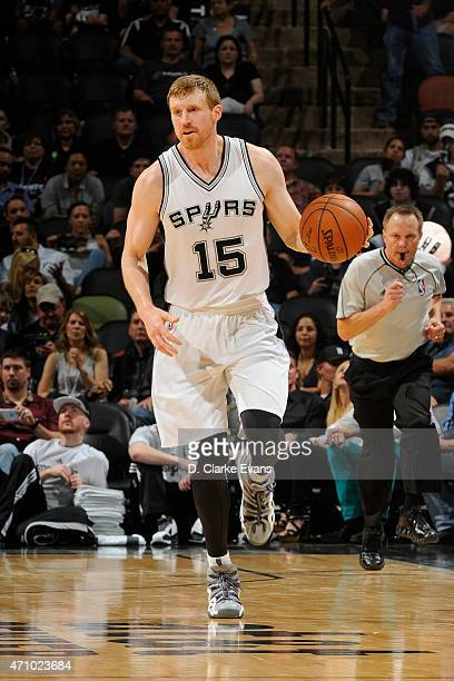 Matt Bonner of the San Antonio Spurs drives to the basket against the Los Angeles Clippers during Game Three of the Western Conference Quarterfinals...