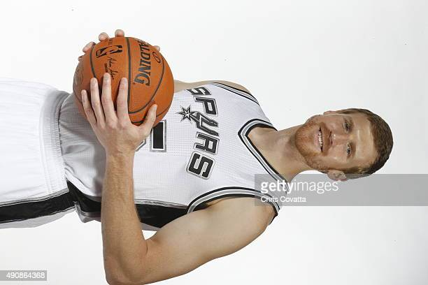 Matt Bonner of the San Antonio Spurs poses for a portrait during media day at the Spurs Training Facility on September 28 2015 in San Antonio Texas...
