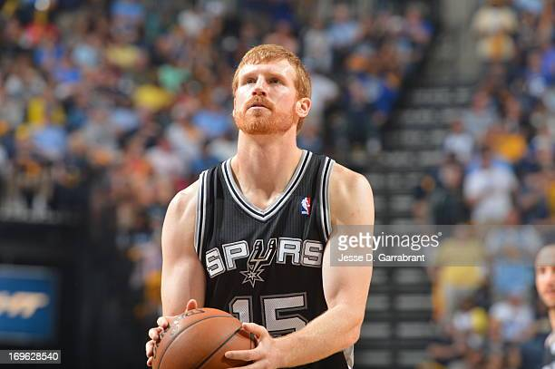 Matt Bonner of the San Antonio Spurs shoots a free throw against the Memphis Grizzlies in Game Three of the Western Conference Finals during the 2013...
