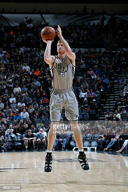 Matt Bonner of the San Antonio Spurs shoots against the Minnesota Timberwolves at the ATT Center on December 6 2014 in San Antonio Texas NOTE TO USER...