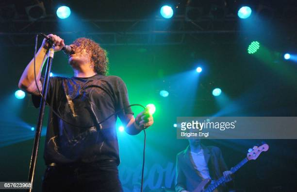 Matt Bowman of Pigeon Detectives perform at The Electric Ballrooom on March 15 2017 in London United Kingdom