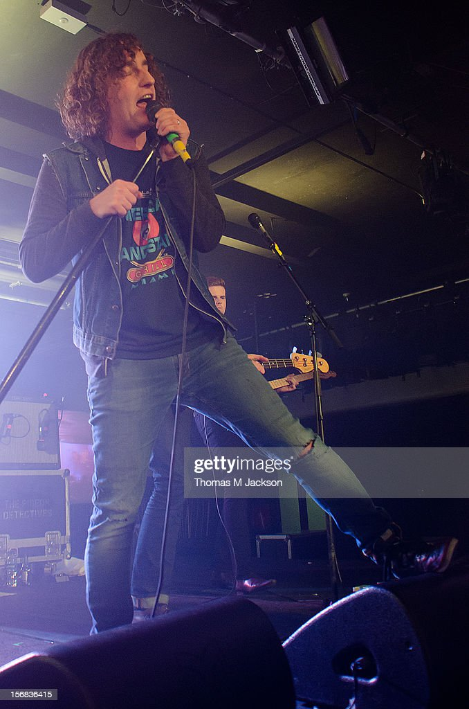Matt Bowman of Pigeon Detectives performs onstage at Newcastle University on November 22, 2012 in Newcastle upon Tyne, England.