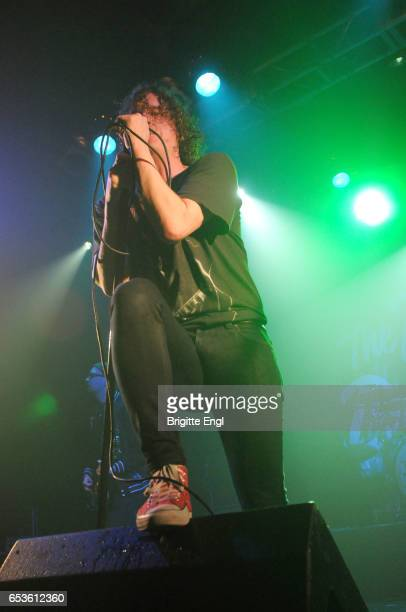 Matt Bowman of The Pigeon Detectives perform at The Electric Ballrooom on March 15 2017 in London United Kingdom