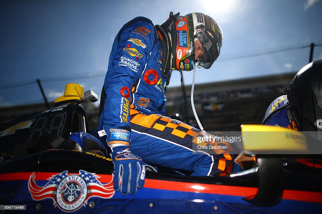 Matt Brabham of Australia, driver of the #61 PIRTEK Team Murray Chevrolet prepares to drive during Carb Day at Indianapolis Motorspeedway on May 27, 2016 in Indianapolis, Indiana.