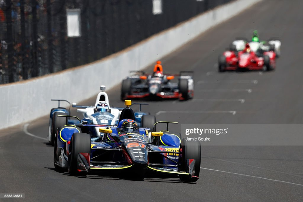 Matt Brabham of Australia, driver of the #61 PIRTEK Team Murray Chevrolet, drives during the 100th running of the Indianapolis 500 at Indianapolis Motorspeedway on May 29, 2016 in Indianapolis, Indiana.
