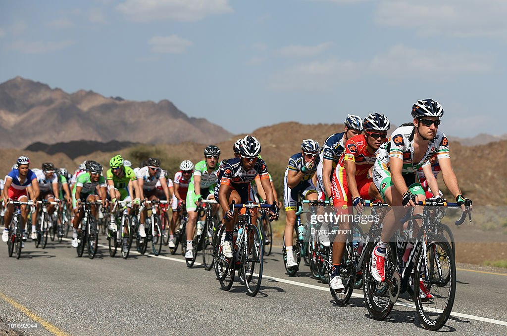 Matt Brammeier of Ireland and Champion System ride in the during stage four of the 2013 Tour of Oman from Al Saltiyah in Samail to Jabal Al Akhdhar (Green Mountain) on February 14, 2013 in Jabal Al Akhdhar, Oman.