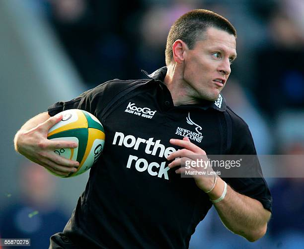 Matt Burke of Newcastle in action during the Powergen Cup First Round match between Newcastle Falcons and Sale Sharks at Kingston Park on October 2...