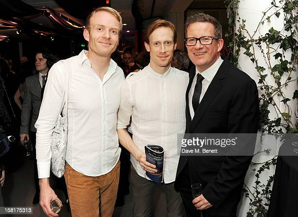Matt Cain Ed Watson and Matthew Bourne attend an after party following the press night performance of Matthew Bourne's Sleeping Beauty at Sadler's...