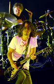 Matt Cameron and Chris Cornell of Soundgarden perform at Shoreline Amphitheatre on August 24 2014 in Mountain View California