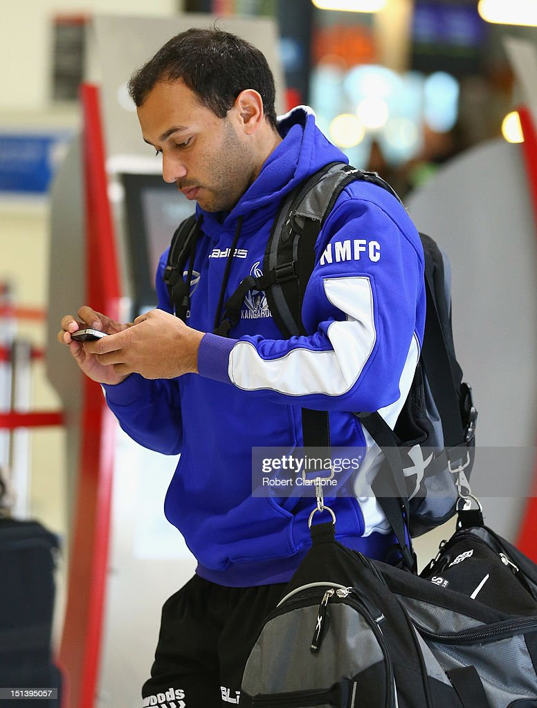 Matt Campbell of the North Melbourne Kangaroos at Melbourne Airport on September 7, 2012 in Melbourne, Australia.