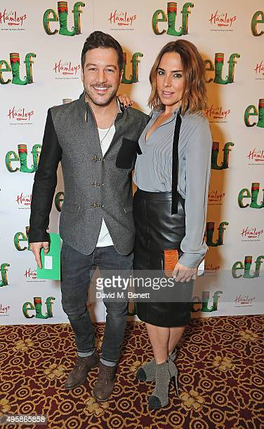Matt Cardle and Mel C attend the press night of 'Elf The Musical' at the Dominion Theatre on November 5 2015 in London England