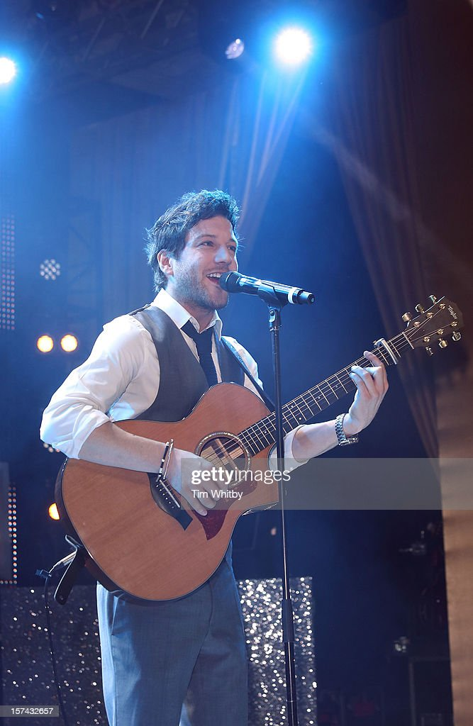 Matt Cardle perfoms at the British Olympic Ball at the Grosvenor Hotel on November 30, 2012 in London, England.