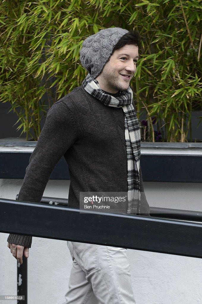 Matt Cardle sighted departing ITV Studios on January 4, 2013 in London, England.
