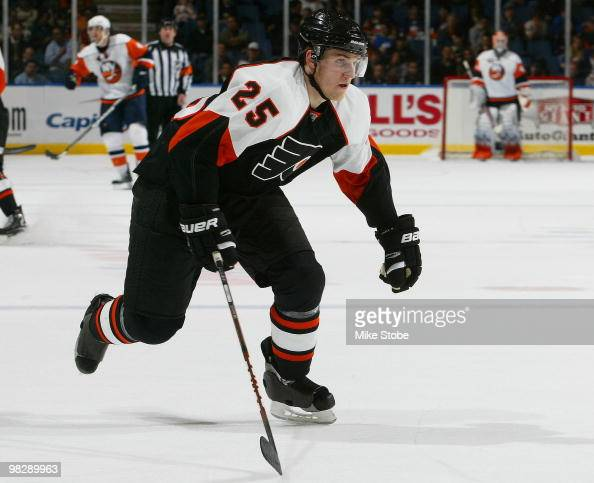 Matt Carle of the Philadelphia Flyers skates against the New York Islanders on April 1 2010 at Nassau Coliseum in Uniondale New York Islanders...