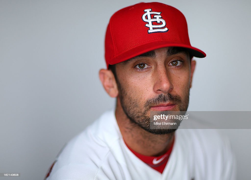 Matt Carpenter #13 of the St. Louis Cardinals poses during photo day at Roger Dean Stadium on February 19, 2013 in Jupiter, Florida.