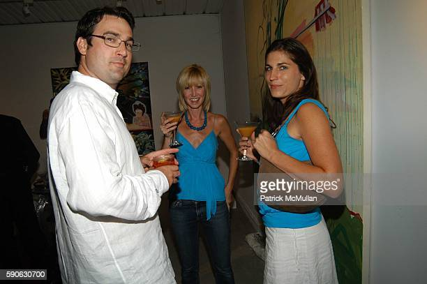 Matt Cobb Kim Wallingford and Amanda Bauman attend LACMA Cocktail Party at House of Campari on August 31 2005 in Venice CA