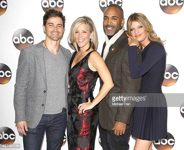 Matt Cohen Laura Wright Donnell Turner Michelle Stafford arrive at the 2017 Winter TCA Tour Disney/ABC held at Langham Hotel on January 10 2017 in...