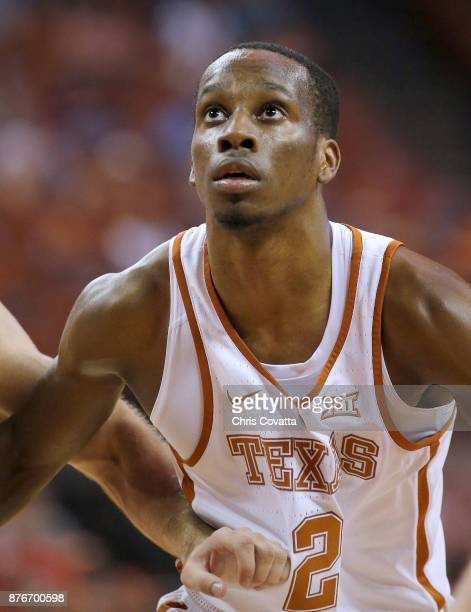Matt Coleman of the Texas Longhorns battles for position during the game with the Lipscomb Bisons at the Frank Erwin Center on November 18 2017 in...