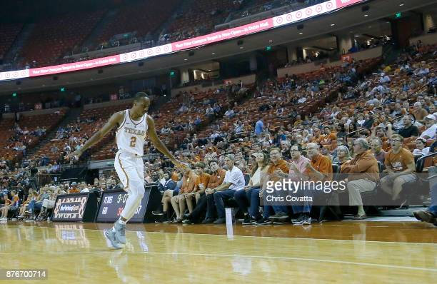 Matt Coleman of the Texas Longhorns reacts during the game with the Lipscomb Bisons at the Frank Erwin Center on November 18 2017 in Austin Texas