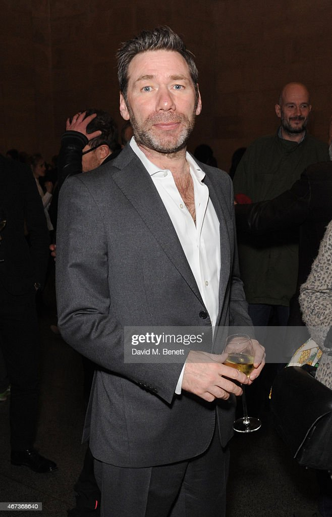 Matt Collishaw attends a private view of 'Nick Waplington/Alexander McQueen: Working Progress' at the Tate Britain on March 23, 2015 in London, England.