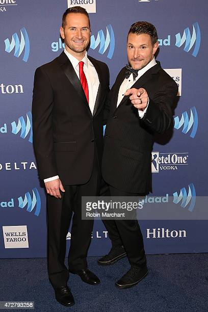 Matt Collum and singer Ty Herndon attends the 26th Annual GLAAD Media Awards at The Waldorf Astoria on May 9 2015 in New York City