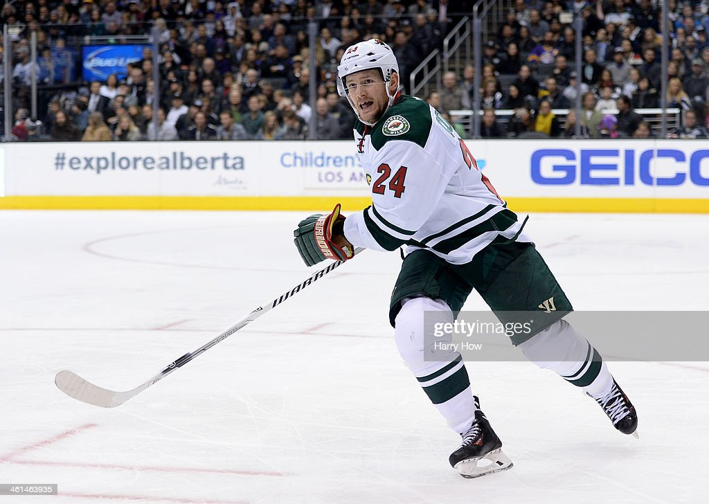 Matt Cooke of the Minnesota Wild skates during a 21 win over the Los Angeles Kings at Staples Center on January 7 2014 in Los Angeles California
