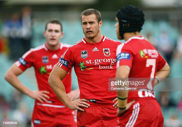 Matt Cooper of the Dragons looks on during the round 14 NRL match between the Parramatta Eels and the St George Illawarra Dragons at Parramatta...