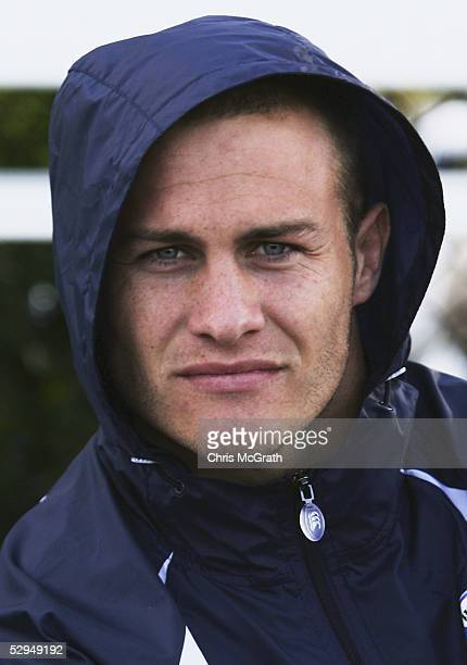 Matt Cooper watches on during the NSW Blues State of Origin training session held at Woollahra Oval May 19 2005 in Sydney Australia