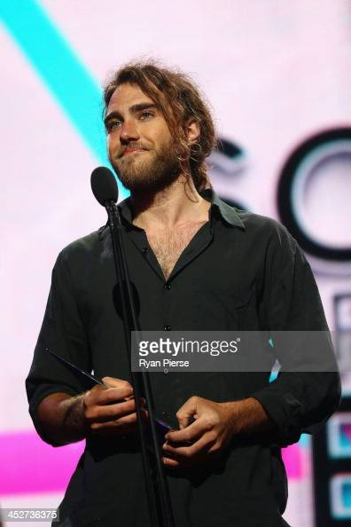Matt Corby accepts the award for 'Song of the Year' during the 27th Annual ARIA Awards 2013 at the Star on December 1 2013 in Sydney Australia