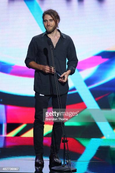 Matt Corby accepts the Song of The Year ARIA during the 27th Annual ARIA Awards 2013 at the Star on December 1 2013 in Sydney Australia