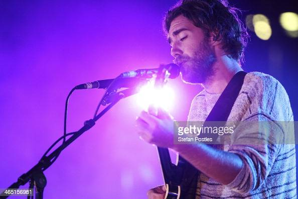 Matt Corby performs at the Australia Celebrates Live Concert as part of the 2014 Australian of the Year on the lawn of Parliament House on January 25...