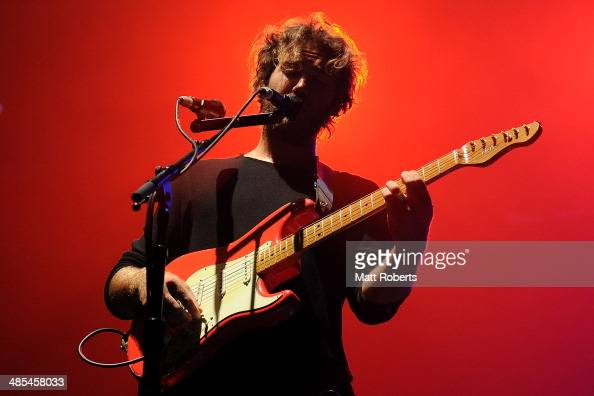 Matt Corby performs live for fans at the 2014 Byron Bay Bluesfest on April 18 2014 in Byron Bay Australia
