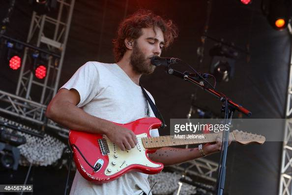 Matt Corby performs live for fans at West Coast Blues N Roots 2014 at Fremantle Park on April 13 2014 in Perth Australia