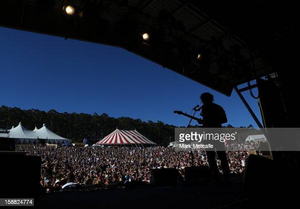 Matt Corby performs live on stage at The Falls Music and Arts Festival on December 31 2012 in Lorne Australia