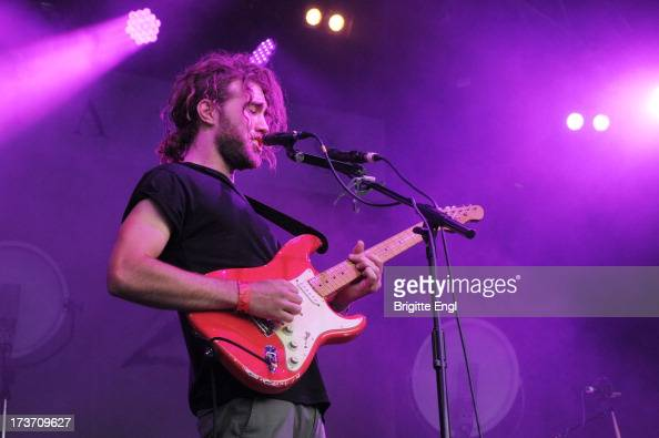 Matt Corby performs on stage as part of the annual Summer Series of openair concerts at Somerset House on July 13 2013 in London England