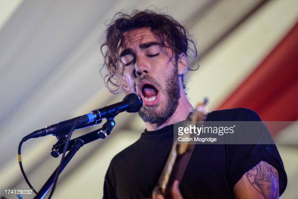 Matt Corby performs on stage on Day 3 of Latitude Festival 2013 at Henham Park Estate on July 20 2013 in Southwold England