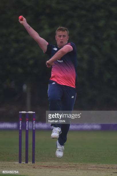 Matt Cowdery of England runs into bowl during the INAS Learning Disability TriSeries Trophy Final match between England and South Africa on July 21...