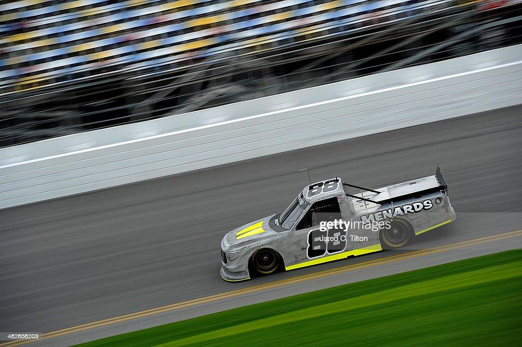 Matt Crafton drives the #88 Thorsport Toyota during NASCAR Preseason Thunder at Daytona International Speedway on January 14, 2014 in Daytona Beach, Florida.