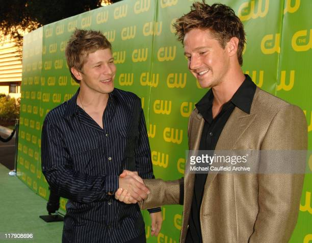 Matt Czuchry and Jason Dohring during The CW Launch Party Green Carpet at WB Main Lot in Burbank California United States