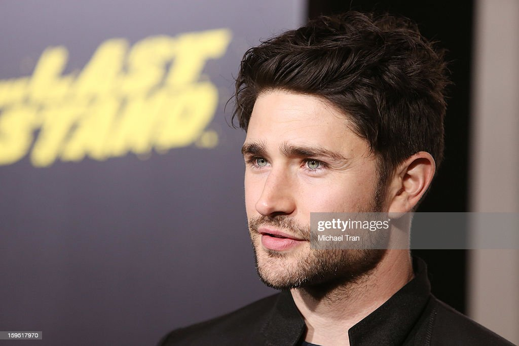 <a gi-track='captionPersonalityLinkClicked' href=/galleries/search?phrase=Matt+Dallas&family=editorial&specificpeople=752704 ng-click='$event.stopPropagation()'>Matt Dallas</a> arrives at the Los Angeles premiere of 'The Last Stand' held at Grauman's Chinese Theatre on January 14, 2013 in Hollywood, California.