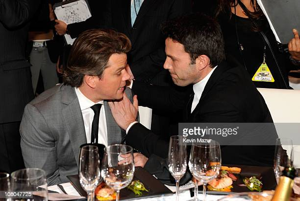 Matt Damon and Ben Affleck attends the 16th Annual Critics Choice Movie Awards at the Hollywood Palladium on January 14 2011 in Los Angeles California